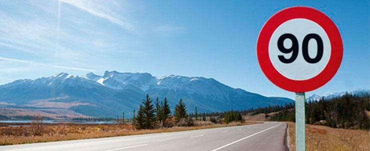 Nuevo limite de velocidad en carreteras convencionales